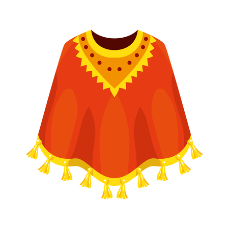 mexican poncho isolated icon vector illustration design Illustration