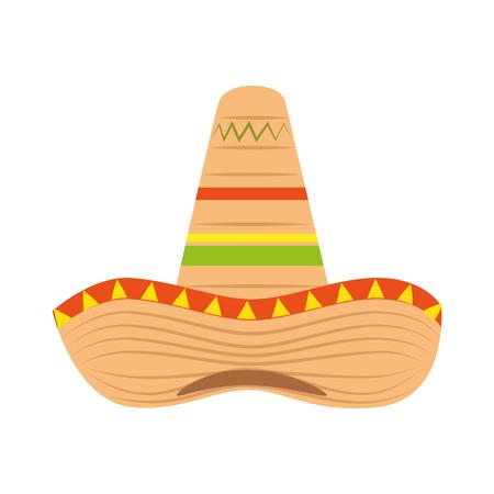 mexican hat culture icon vector illustration design