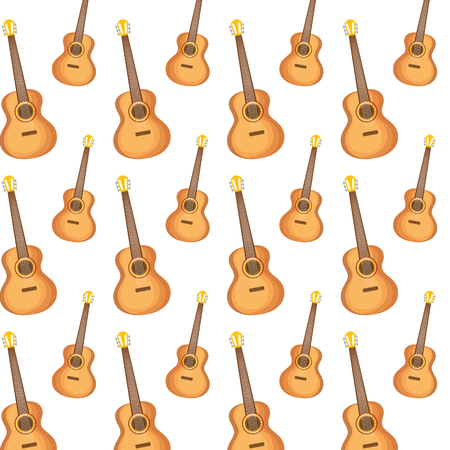 mexican guitarron instruments pattern vector illustration design Illustration