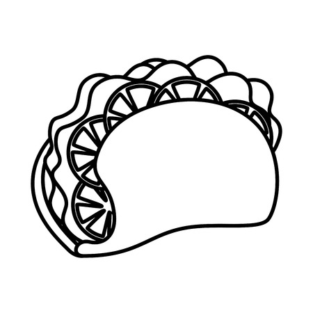 taco mexican food icon vector illustration design Foto de archivo - 110645934