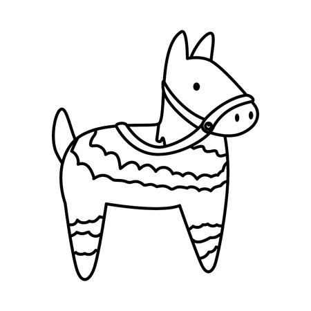 latin pinata isolated icon vector illustration design