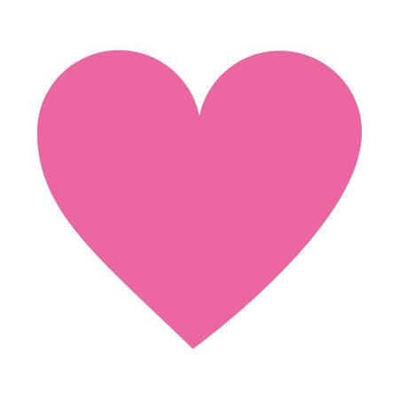 liefde hart op witte achtergrond vectorillustratie Vector Illustratie