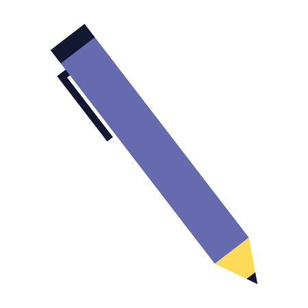 pen supply on white background vector illustration Çizim