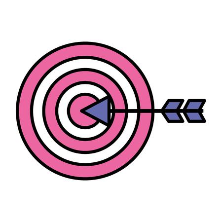target arrow on white background vector illustration