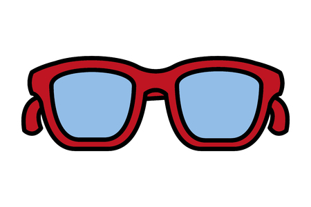 glasses accessory on white background vector illustration  イラスト・ベクター素材