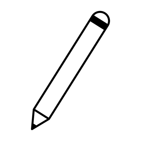 pencil supply on white background vector illustration