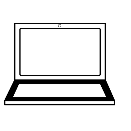 laptop computer on white background vector illustration