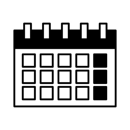 calendar reminder date on white background vector illustration