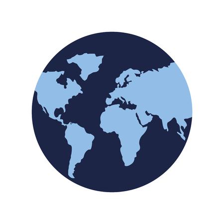 globe map world on white background vector illustration