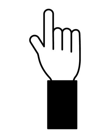 hand pointing index finger on white background vector illustration vector illustration
