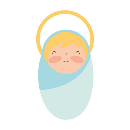 manger epiphany cute baby jesus vector illustration