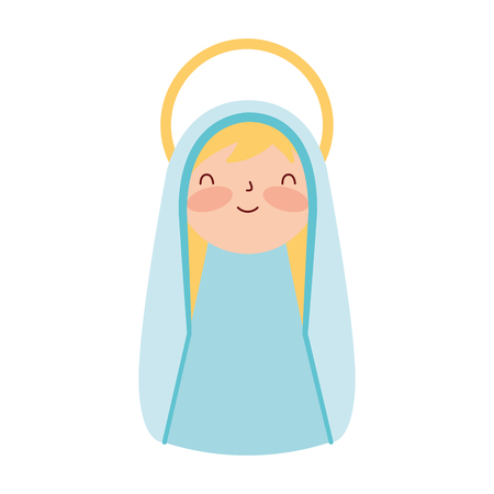 cute holy mary character merry christmas vector illustration Banque d'images - 110831063