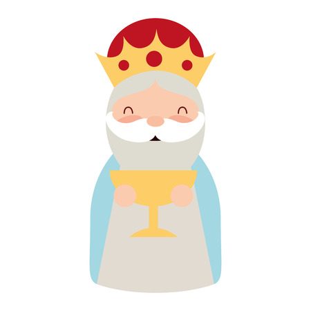 manger epiphany character holding gift gold vector illustration 스톡 콘텐츠 - 110831256