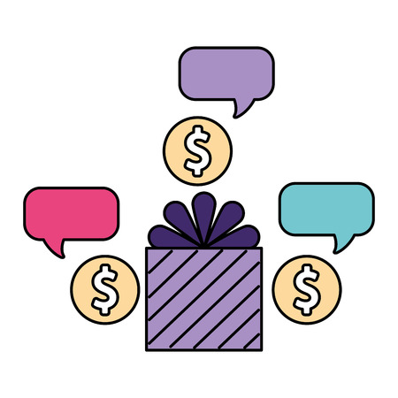 help gift box surprise donation vector illustration Illustration
