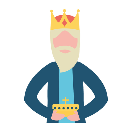 manger epiphany wise king holding gift vector illustration 스톡 콘텐츠 - 110830529