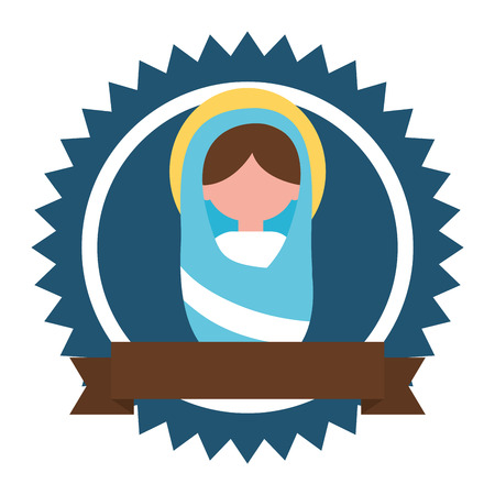 baby jesus christmas character banner vector illustration 向量圖像