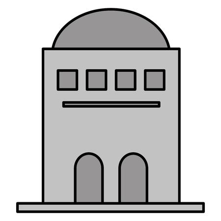 antique building desert architecture archeology vector illustration