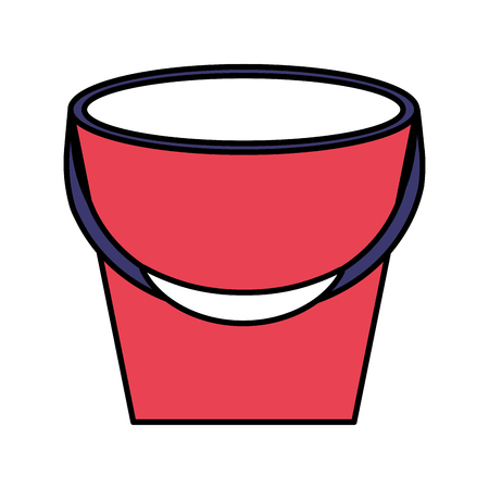 rubber bucket on white background vector illustration 写真素材 - 110855111
