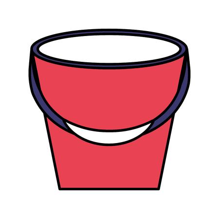 rubber bucket on white background vector illustration