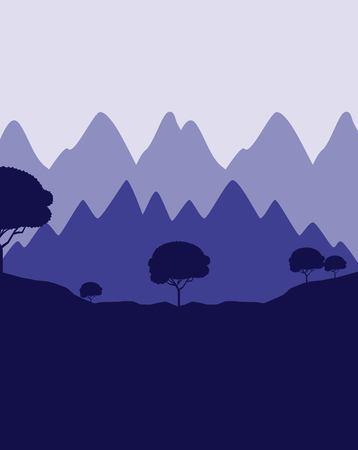 wanderlust travel landscapes mountains alps cliffs vector illustration