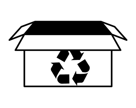 recycling box protect cleaning eco vector illustration