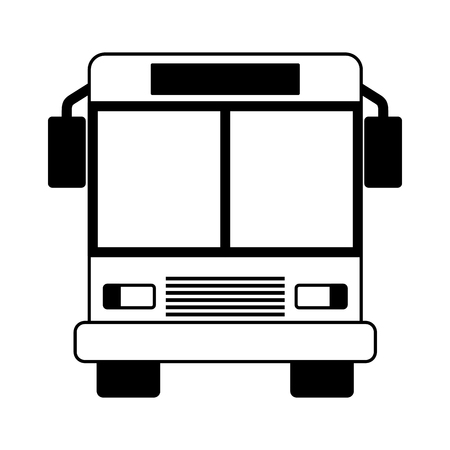 autobus transport on white background vector illustration