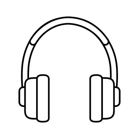 earphones audio isolated icon vector illustration design Illusztráció