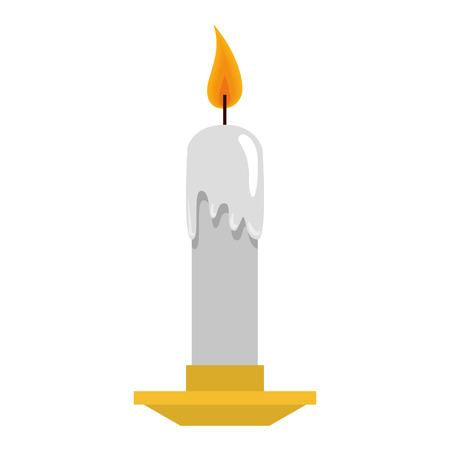 candle church isolated icon vector illustration design  イラスト・ベクター素材