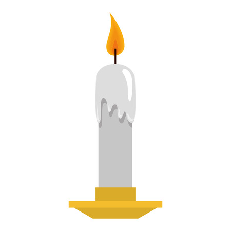 candle church isolated icon vector illustration design Illustration