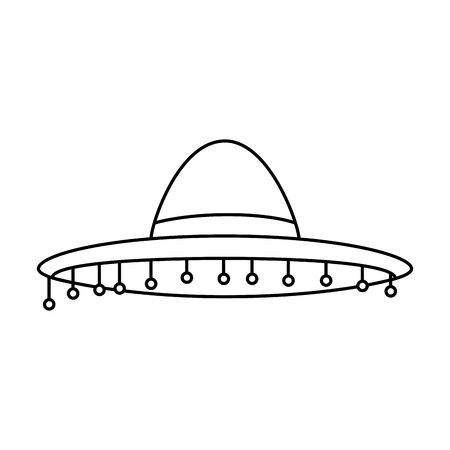 mexican hat culture icon vector illustration design