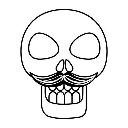 mask of the santa death with mustache vector illustration design