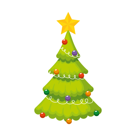 merry christmas tree icon vector illustration design