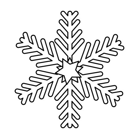 merry christmas snowflake decorative vector illustration design Çizim