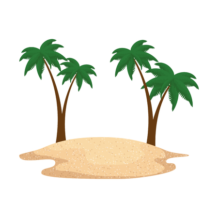 beach seascape scene icon vector illustration design