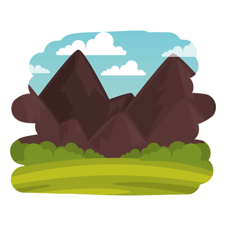 field landscape scene icon vector illustration design