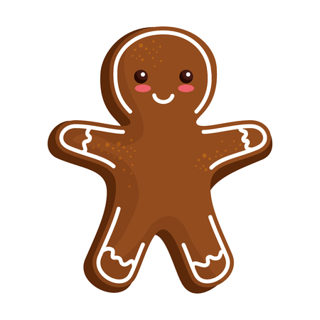 sweet ginger cookie icon vector illustration design