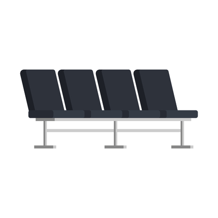 airport chairs place icon vector illustration design Illustration