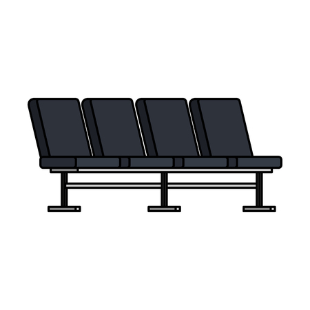 airport chairs place icon vector illustration design 일러스트