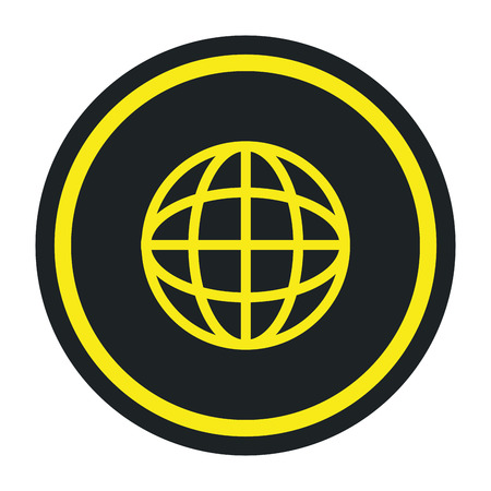 sphere planet browser icon vector illustration design Banque d'images - 111088924