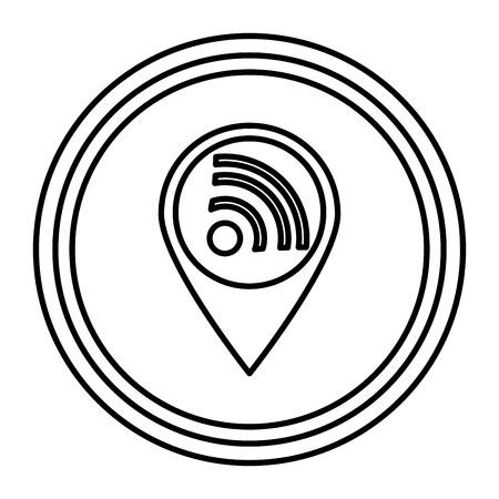 wifi signal isolated icon vector illustration design 스톡 콘텐츠 - 111088934