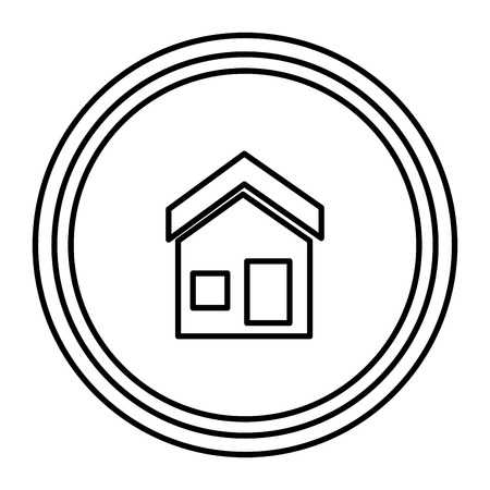 house exterior facade icon vector illustration design
