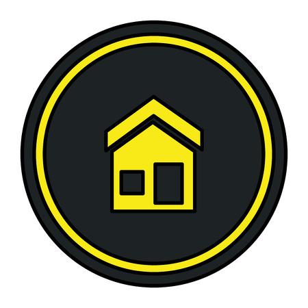house exterior facade icon vector illustration design Imagens - 111088936