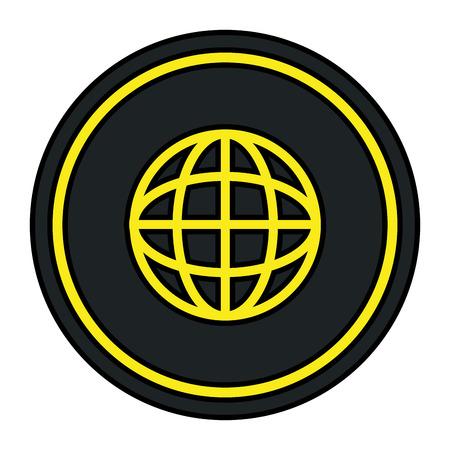 sphere planet browser icon vector illustration design Banque d'images - 111088944