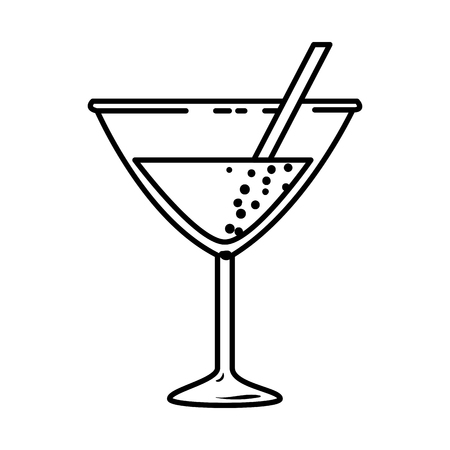 cup cocktail drink icon vector illustration design 일러스트