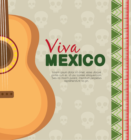 traditional guitar instrument to celebrate event vector illustration Illustration