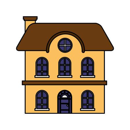 house real estate on white background vector illustration