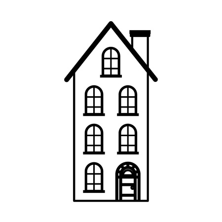 house real estate on white background vector illustration