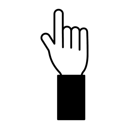 hand pointing on white background vector illustration 向量圖像