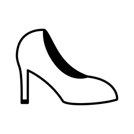 high heeled shoe on white background vector illustration Illustration