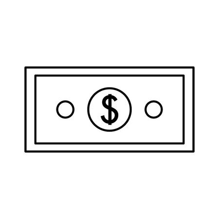 money banknote cash on white background vector illustration